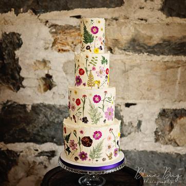 Blue Bug Wedding Cake