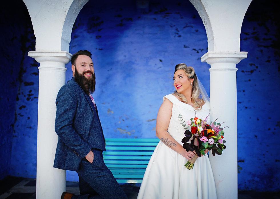 Blue Bug Portmeirion Wedding_l_aVX3A9551