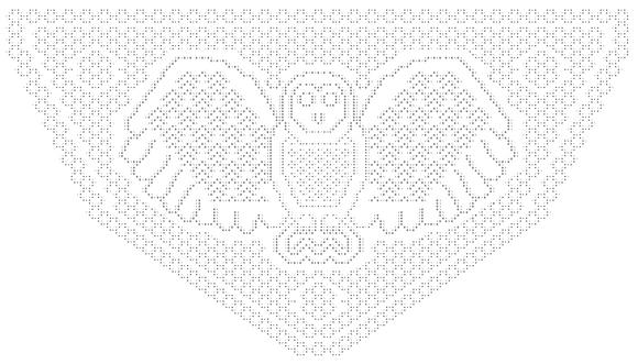 Indigo Owl 1 Shawl