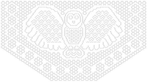 Indigo Owl 2 Shawl