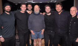 The boys with Legend Michael Eavis