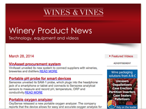 Wines & Vines Winery Product News