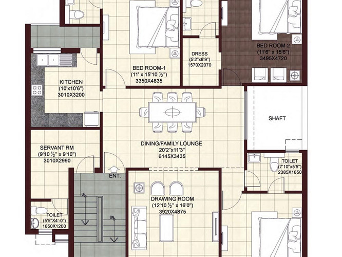 Wave-Floors-First-Second-Floor-Plan-3BHK