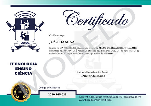 Certificado impresso
