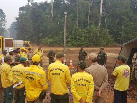 ICMBio reforça combate ao fogo na Amazônia