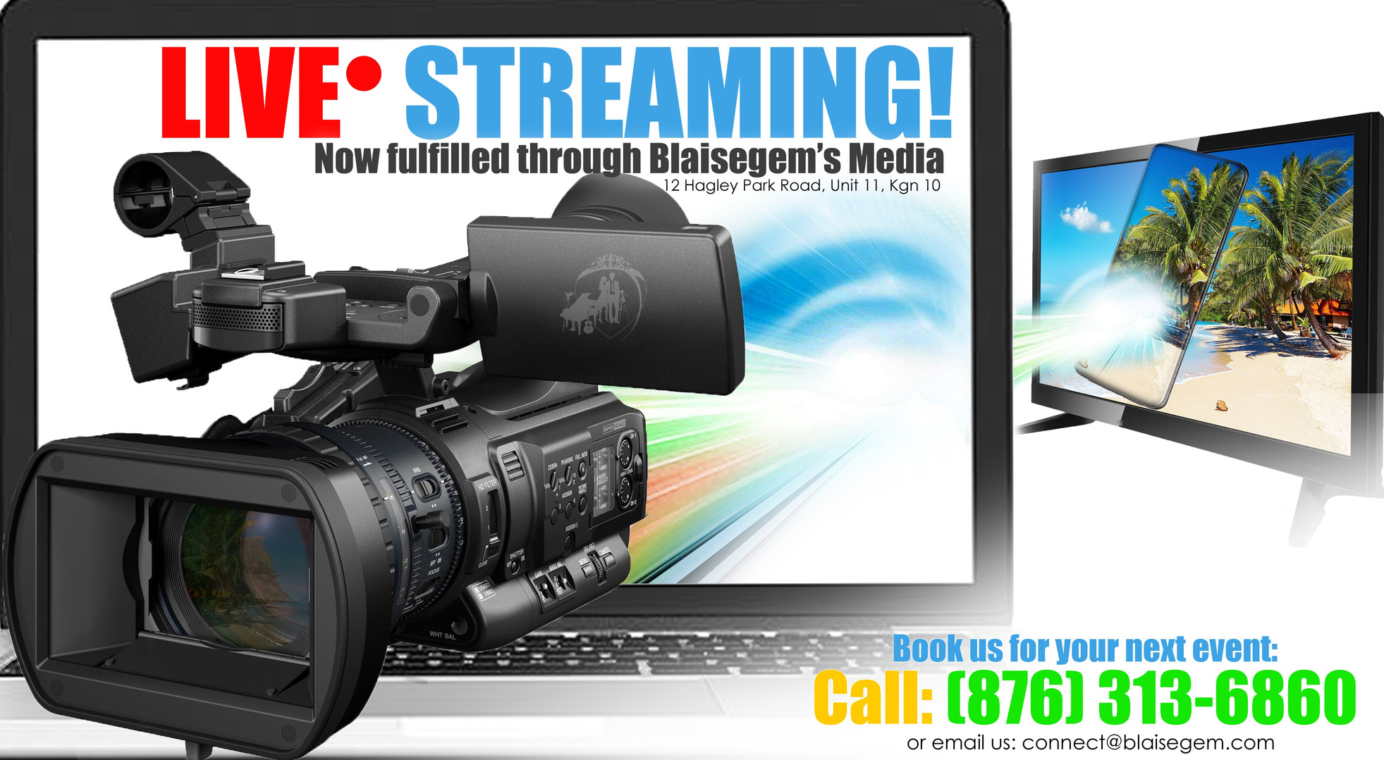 Get your events streamed live by Blaisegem Media