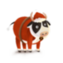 —Pngtree—creative_christmas_cow_design_4