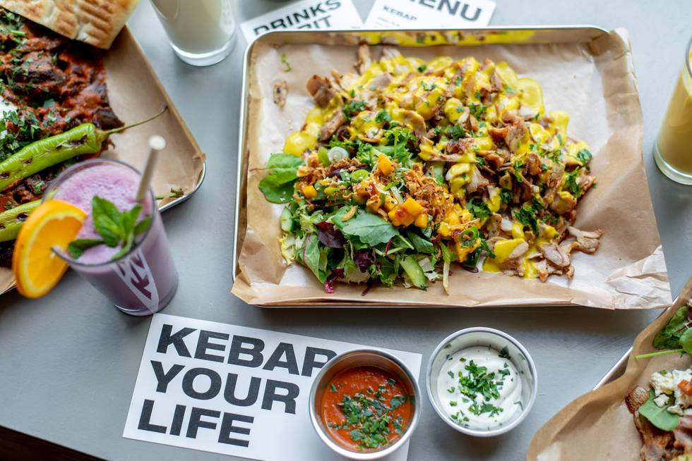 Gemüse Chicken Kebab als Funky Mango Tray