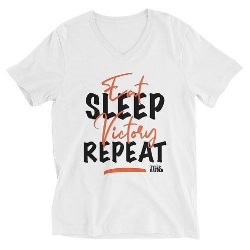 White - Unisex V-Neck T-Shirt