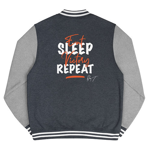 Eat, Sleep, Victory, Repeat - Men's Letterman Jacket