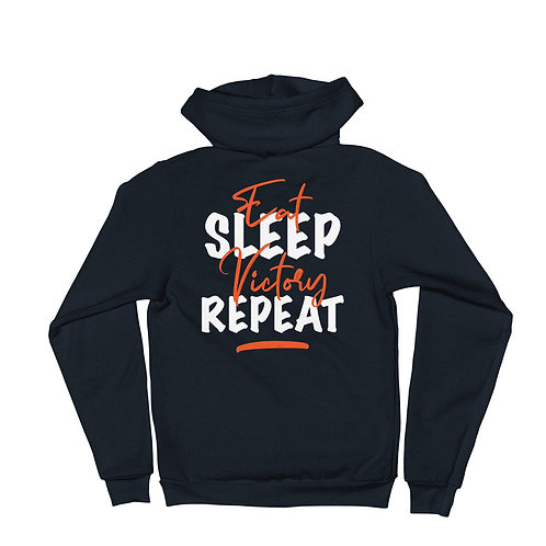 Eat, Sleep, Victory, Repeat - Zip Hoodie Sweater