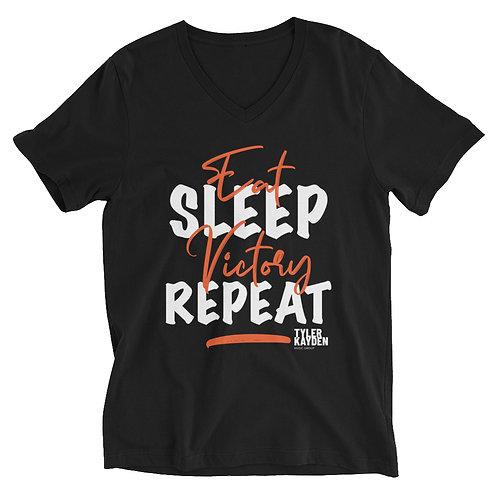 Black Unisex V-Neck T-Shirt