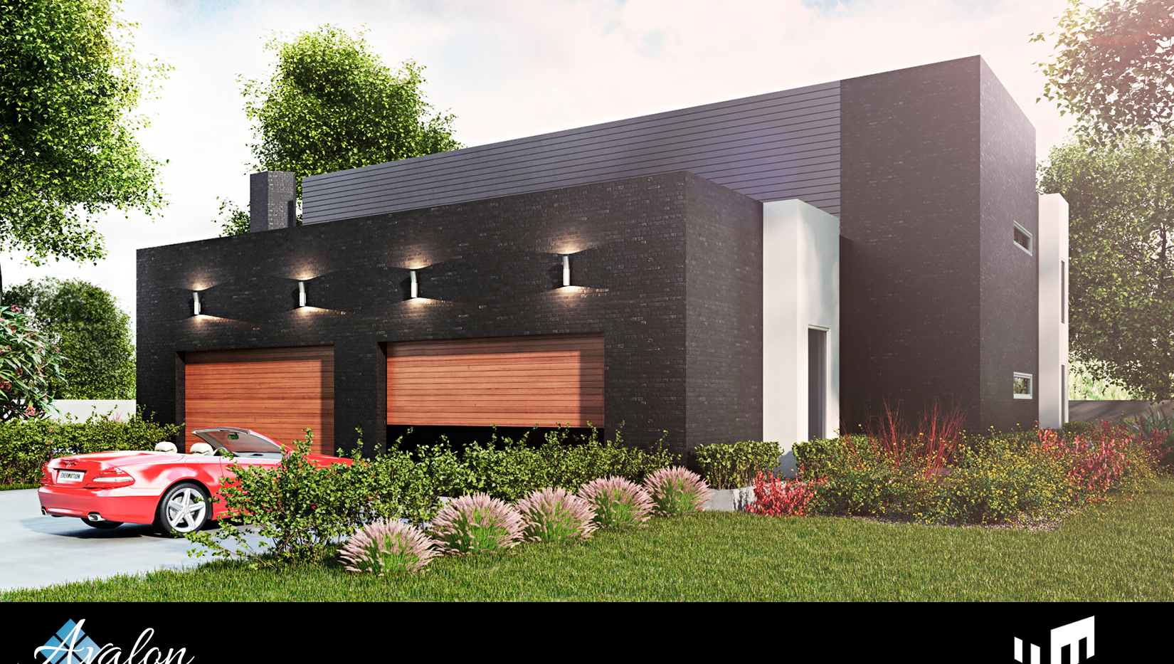 An Avalon Custom Home: Contemporary Home  Rendering
