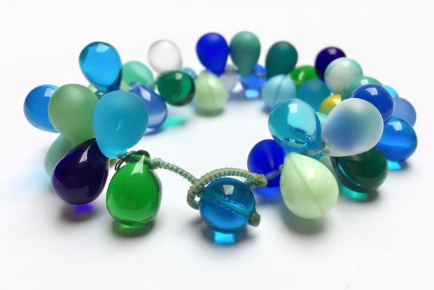 Blue Boho Cuff Bracelet