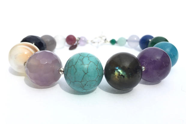 Planet Bracelet in Multi Gemstone