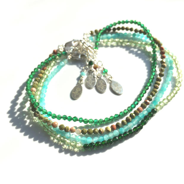 Skinny Gemstone Stacking Bracelets