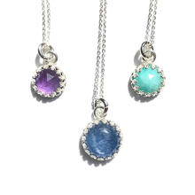 Sterling Silver & Gemstone Pendants