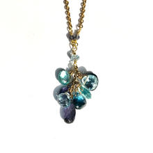 Blue Gemstone Cluster Pendant