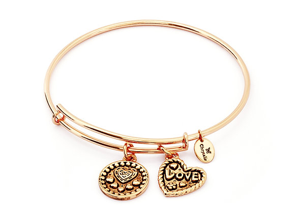 Love Expandable Bangle- Rose Gold