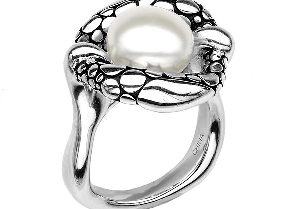 Button Pearl Stingray Ring