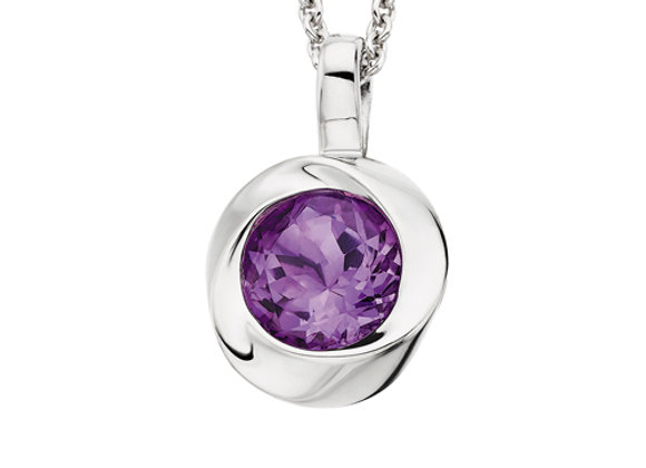 Love Knot Amethyst Necklace