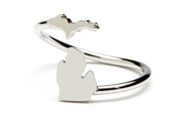 State of Michigan Ring - Stainless Steel
