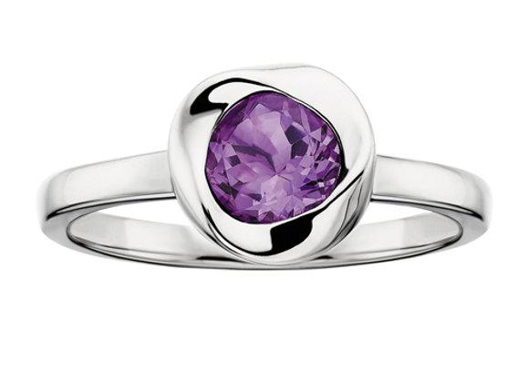 Love Knot Amethyst Ring