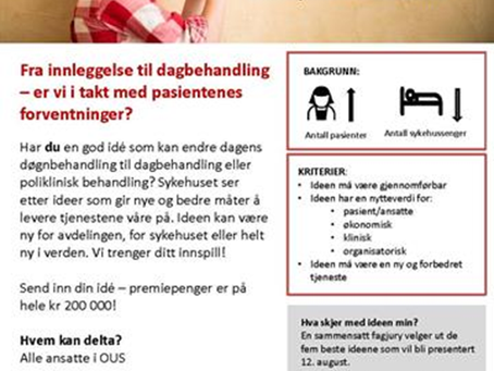 Utfordringsdrevet innovasjon ved Oslo universitetssykehus - Innovasjonskonkurransen 2019
