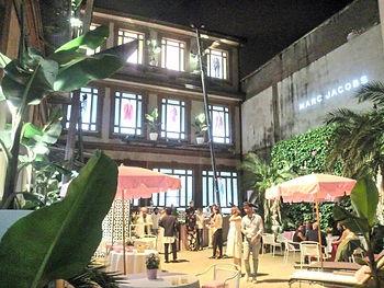 allestimento piante evento moda marc jacobs