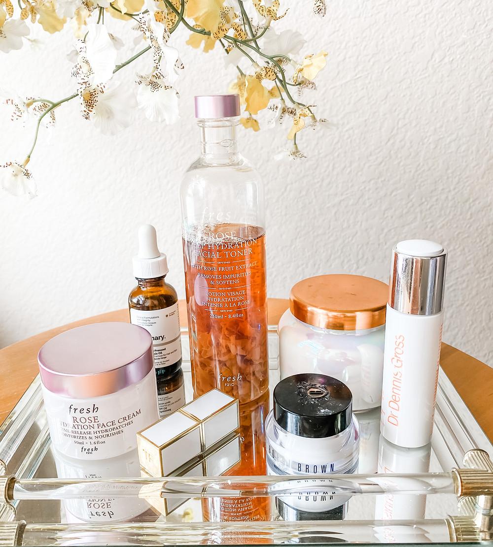 morning skincare routine luxury beauty