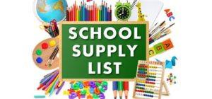 RHS Supply List