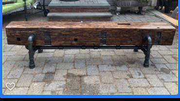 Barn Beam Bench (100+ Years Old)