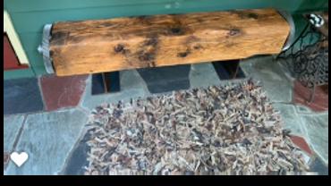 SOLD - Custom Made Barn Beam Bench