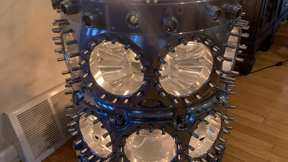 B29 Bomber engine and table or pub table