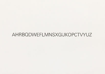 Thomas Martin Nutt. The alphabet arranged alphabeticaly. Letterpressed limited edition.