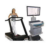 Woman on a treadmill for Stress ECG