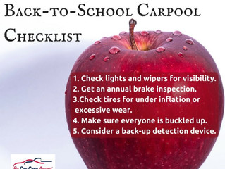 Back to school carpool checklist