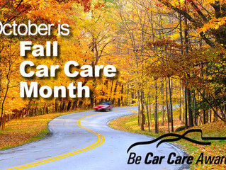 October is FallCar Care Month