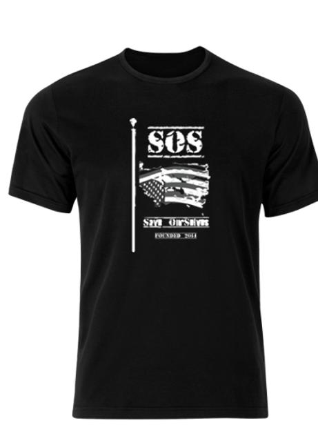 SOS Classic Black Tee