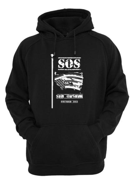 SOS Classic Black Hoodie