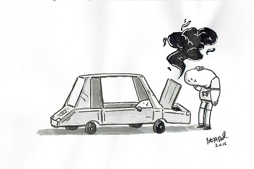 Engine Trouble - Ink Tober A5