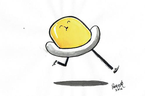 Runny Egg - Ink Tober A5