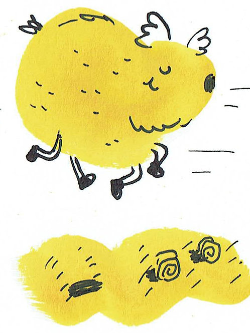 Yellow Fluff buddy - Pocket Painting