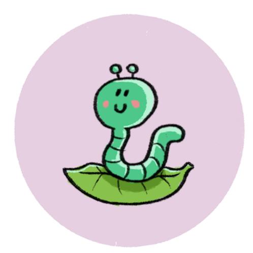 Badge Buddy - Cute Caterpillar