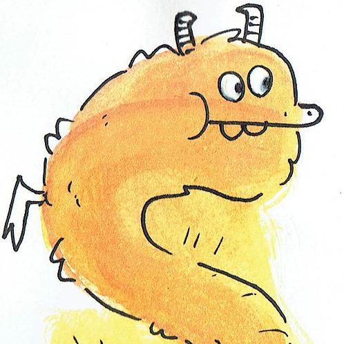 Orange Dragon - Pocket Painting