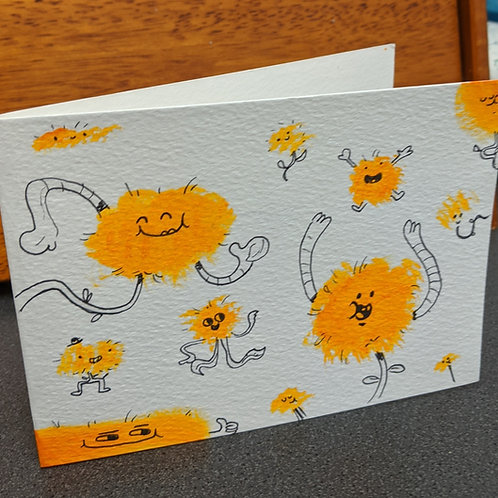 Dancing Dandelions - Handmade Card