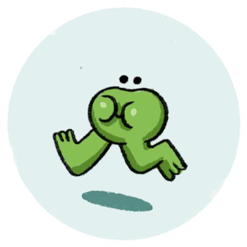 Badge Buddy - Hopping Frog