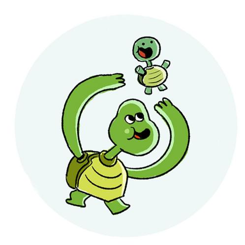 Badge Buddy - Turtle Playtime