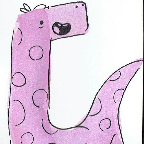 Purple Spotty Dino - Pocket Painting