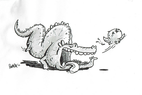 Snappy Croc - Ink Tober Artwork